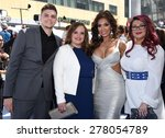 Small photo of LOS ANGELES - APR 12: Tyler Baltierra, Catelynn Lowell , Farrah Abraham & Amber Portwo arrives to the MTV Movie Awards 2015 on April 12, 2015 in Hollywood, CA