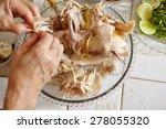 shredded chicken for the... | Shutterstock . vector #278055320