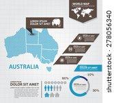 australia map infographic | Shutterstock .eps vector #278056340
