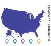 map usa | Shutterstock .eps vector #278059058