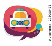 taxi flat icon with long shadow   Shutterstock .eps vector #278060438