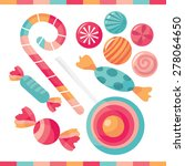 a selection of delicious candy... | Shutterstock .eps vector #278064650