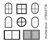 set of window icons | Shutterstock .eps vector #278065778
