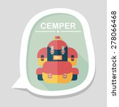 backpack flat icon with long... | Shutterstock .eps vector #278066468