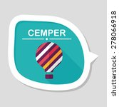 hot air balloon flat icon with... | Shutterstock .eps vector #278066918