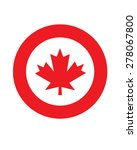 vector canadian maple leaf... | Shutterstock .eps vector #278067800