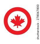 vector canadian maple leaf... | Shutterstock .eps vector #278067800
