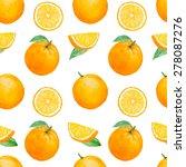 Vector Watercolor Orange Fruit...