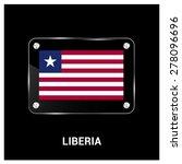 vector liberia flag glass plate ... | Shutterstock .eps vector #278096696