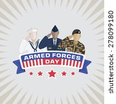 armed forces day  | Shutterstock .eps vector #278099180
