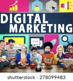 digital marketing commerce... | Shutterstock . vector #278099483
