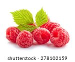 fresh organic raspberries... | Shutterstock . vector #278102159