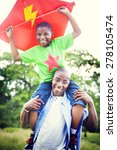 african family happiness... | Shutterstock . vector #278105474