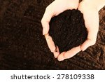 female handful of soil  closeup | Shutterstock . vector #278109338