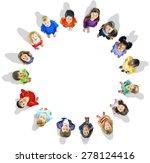 diversity innocence children... | Shutterstock . vector #278124416
