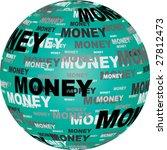 money text on ball vector... | Shutterstock .eps vector #27812473