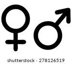 male and female signs  vector... | Shutterstock .eps vector #278126519