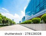 empty road near modern building ... | Shutterstock . vector #278128328