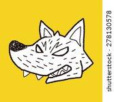 werewolf doodle | Shutterstock . vector #278130578