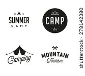 retro camp badges | Shutterstock .eps vector #278142380