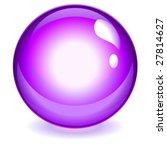 magenta reflective crystal ball | Shutterstock .eps vector #27814627