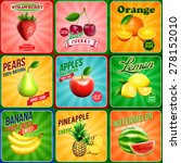 banner fruits | Shutterstock .eps vector #278152010