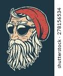 trendy hipster santa claus... | Shutterstock .eps vector #278156534