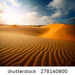 Red Dunes Near The Town Of Mui...