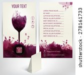 template list or wine tasting.... | Shutterstock .eps vector #278161733