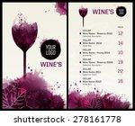 template list or wine tasting.... | Shutterstock .eps vector #278161778