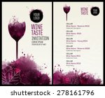 template list or wine tasting.... | Shutterstock .eps vector #278161796