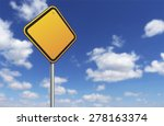 Blank Road Sign And Blue Sky