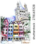 Historical Houses In Cologne ...