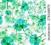 beautiful imprint watercolor... | Shutterstock . vector #278168870