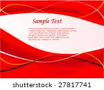 a red and white abstract vector ... | Shutterstock .eps vector #27817741