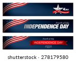 independence day of the usa 4... | Shutterstock .eps vector #278179580