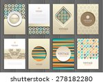 stock vector set of brochures... | Shutterstock .eps vector #278182280