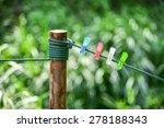 colorful of clothespin clamp on ... | Shutterstock . vector #278188343