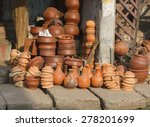 products made of red clay....   Shutterstock . vector #278201699
