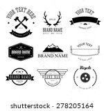 hipster logo   Shutterstock .eps vector #278205164