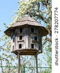 Old Wooden Dovecote. Museum...