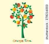 Orange Tree. Vector...