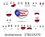 heart flag of state ohio with... | Shutterstock .eps vector #278219270