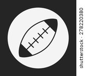 american football icon | Shutterstock .eps vector #278220380