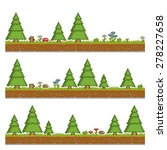 Vector Pixel Art Forest Green...