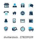 e shopping icons    azure series | Shutterstock .eps vector #278239109
