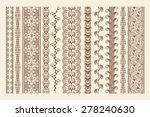 hand drawn henna mehndi tattoo... | Shutterstock .eps vector #278240630