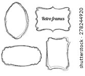 set of hand drawn retro sketchy ...   Shutterstock .eps vector #278244920