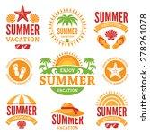 set of  summer holidays labels... | Shutterstock .eps vector #278261078