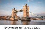 Tower Bridge In Evening At...